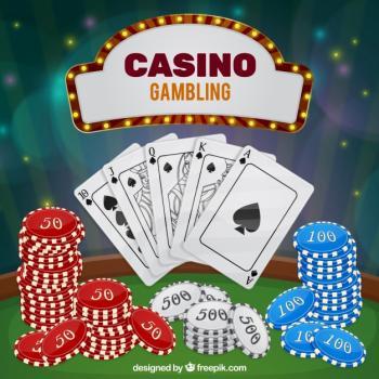 Pelikortteja ja pelimerkkejä